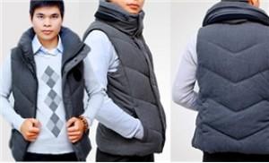 Áo khoác gile Best Jean 03 lớp, cực ấm áp, phần cổ cao dày dặn