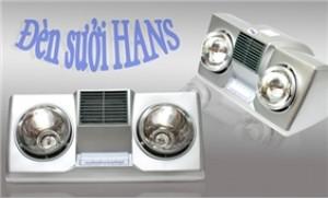 Đèn sưởi nhà tắm Hans 3 in 1: sưởi ấm, thổi gió nóng, quạt gió