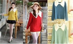 Áo len nữ cổ nơ to - Thời trang đông cho bạn gái