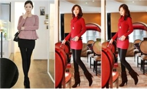 Quần legging (2 lớp) màu đen - Một phong cách thời trang mới