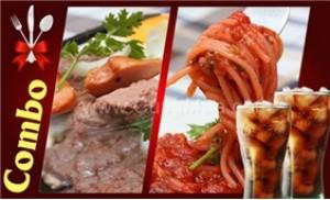 Combo 1 phần Beefsteak + 1 mì Ý + 2 nước ngọt tại Pizza Kima