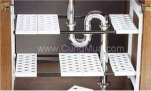 Kệ đa năng đặt dưới bồn rửa chén, có thể thay đổi độ dài dễ dàng