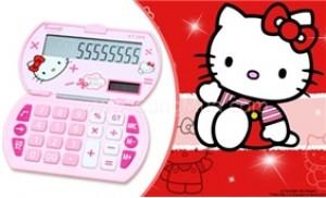 Máy tính Hello Kitty thiết kế màu hồng xinh xắn, màn hình LCD