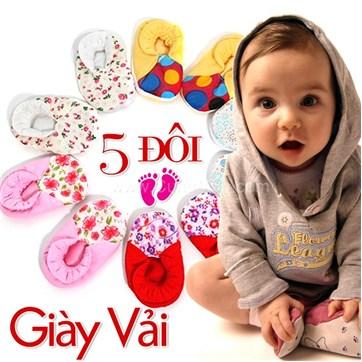 Cùng Mua - Giay vai baby cho be (5 doi)