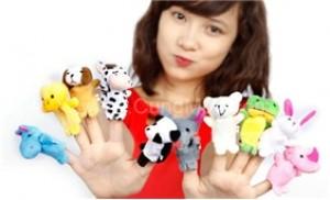 Giúp bé yêu phát triển các giác quan với 5 thú rối ngón tay ngộ nghĩnh