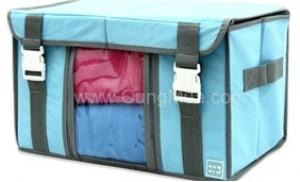 Tủ vải cao cấp có nắp,quai xách,2 khóa chắc chắn,2 cửa sổ,vải dày
