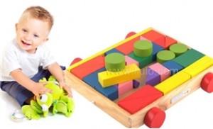 Bé tư duy logic với Bộ đồ chơi lắp ráp xây dựng trên xe 35 chi tiết