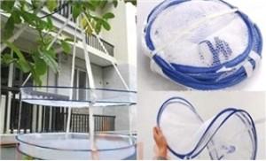 Giá phơi đồ hai tầng bằng lưới - Tiện lợi và gọn nhẹ