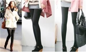 02 quần legging lót nỉ màu đen (01 chiếc cổ chân + 01 chiếc đạp gót)