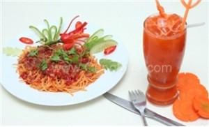 Set ăn Spagetti thịt bò + nước ép trái cây tại Demi Fantasy