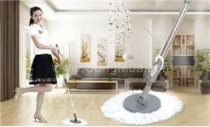 Thân cây lau nhà 360 độ kèm 01 bông lau, cho nhà bạn luôn sạch bóng
