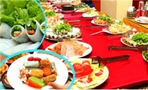 Thưởng thức buffet với 55 món chay tại nhà hàng Hoa Sen