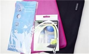 Combo Túi chống sốc, bộ vệ sinh và miếng lót bàn phím cho Laptop