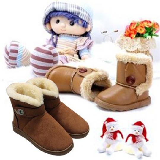 Boot da lộn lót lông cho bé từ 3 đến 9 tuổi (Voucher)