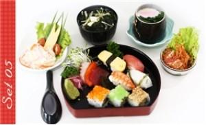 Thưởng thức ẩm thực Phù Tang với 1 trong 6 set ăn tại NH Shabu Sushi
