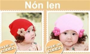 Bảo vệ bé yêu trong thời tiết se lạnh với nón len tóc đáng yêu cho bé