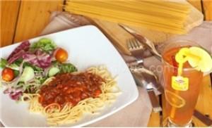 1 phần Mì Ý+1 phần nước suối hoặc trà Lipton-NH Bonjour Resto