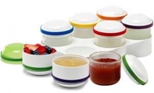 Bộ 6 hộp lưu trữ thức ăn đông lạnh Dr.Brown's bằng silicone cao cấp