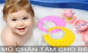 Mũ tắm giúp bé không bị bắn nước hay bọt xà phòng vào vùng mặt và mắt