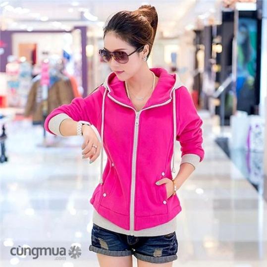 Áo khoác nữ Pink thời trang