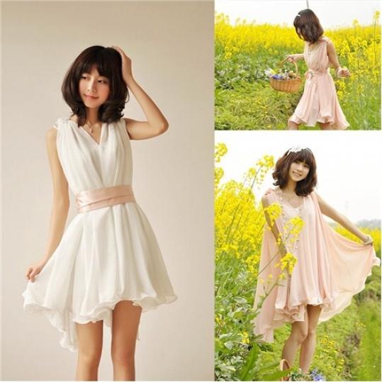 Đầm voan cao cấp kèm đầm 2 dây thời trang kiểu dáng Hàn Quốc
