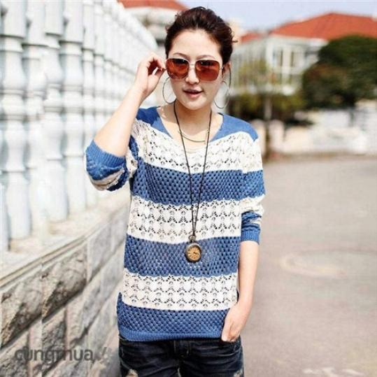Áo len tay dài thu đông thời trang