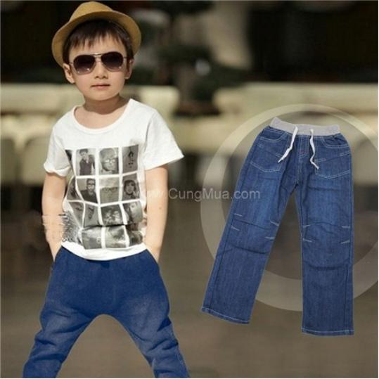 Quần jeans túi đắp cho bé trai