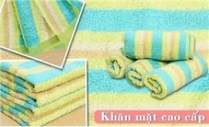 Combo 04 khăn mặt cao cấp - Sản phẩm của Công ty Dệt May phong Phú.
