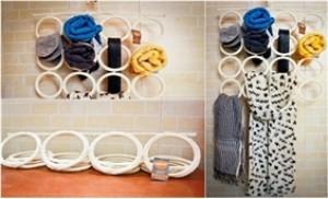 Tiết kiệm diện tích tủ quần áo với Móc treo đa năng