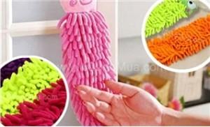 Combo 02 khăn lau tay san hô hình thú siêu thấm, mềm mịn