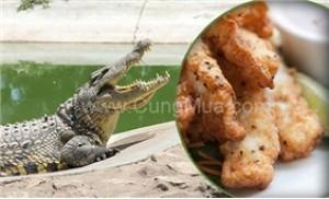 PGG 2kg thịt cá sấu đóng gói đông lạnh, tươi ngon bổ dưỡng.