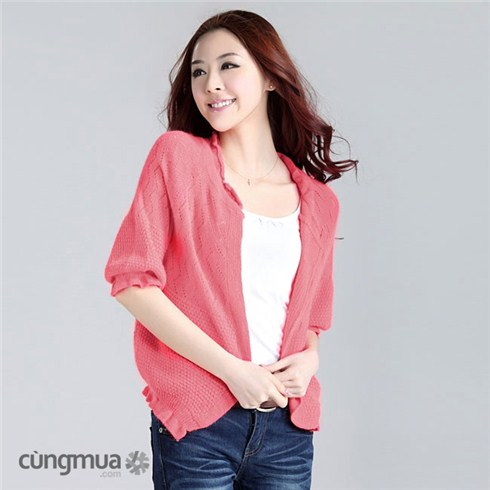Áo khoác nữ chất liệu len thời trang