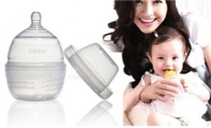 Bình sữa trẻ em silicone Farlin 240 ml