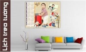 Lịch ép gỗ Laminate (40x60cm) treo tường thiết kế theo ý tưởng của bạn