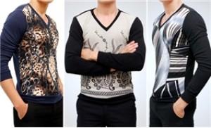 Áo len nam cổ tim dài tay, kiểu dáng thời trang, lịch lãm - 1 - Thời Trang và Phụ Kiện