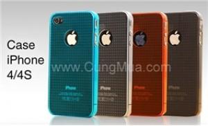 Combo 2 ốp lưng Iphone 4 bằng nhựa, màu sắc nổi bật, an toàn