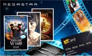 2 vé xem phim MegaStar và 1 thẻ inCard 6 tháng