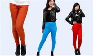 Skinny co giãn nhiều màu giúp bạn gái thêm năng động