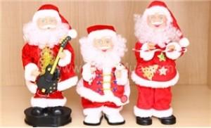 Ông già Noel phát nhạc và nhảy múa cho Bé