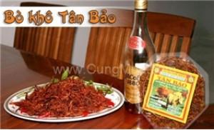 Hộp khô bò xé sợi (400 gr) Tân Bảo