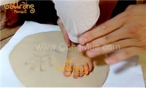 Tranh gốm in bàn tay, bàn chân (có phục vụ tại nhà)