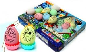 Bộ đồ chơi tô màu trứng giúp bé phát triển EQ, sáng tạo, khéo léo