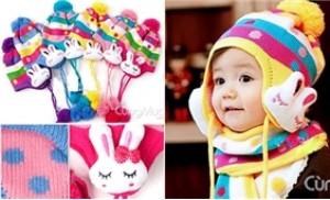 Mũ len tai thỏ ấm áp cho trẻ em từ 03 tháng - 04 tuổi - 1 - Thời Trang và Phụ Kiện