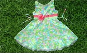 Xinh xắn & đáng yêu cho bé gái với Đầm hoa trẻ em xuất khẩu (2-4 tuổi)