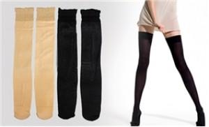 02 đôi tất đùi lụa (màu đen + da) cho đôi chân mịn màng, quyến rũ - 2 - Thời Trang và Phụ Kiện - Thời Trang và Phụ Kiện