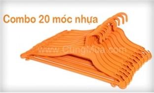 Combo 20 móc nhựa treo quần áo