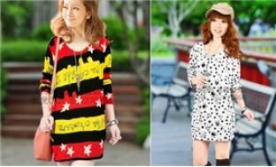 Áo len họa tiết dáng dài - bắt kịp xu hướng thời trang hot nhất 2012