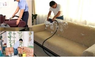 Dịch vụ giặt ghế sofa tại nhà - sáng bừng phòng khách đón Tết