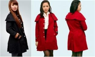 Áo khoác choàng dáng dài - tôn vẻ đẹp mỹ miều của bạn gái