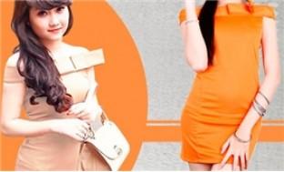 Dịu dàng và duyên dáng với Đầm nơ ngang vai. Có 02 màu nude, màu cam! - 1 - Thời Trang và Phụ Kiện - Thời Trang và Phụ Kiện